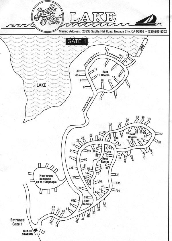 scotts flat lake map Scotts Flat Campground Maps scotts flat lake map